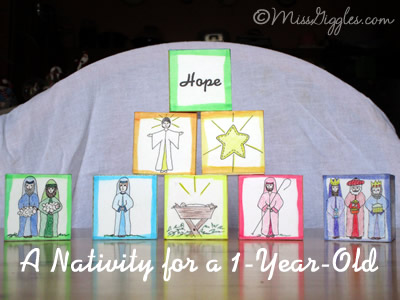 Random Giggles | A Nativity for a 1-Year-Old