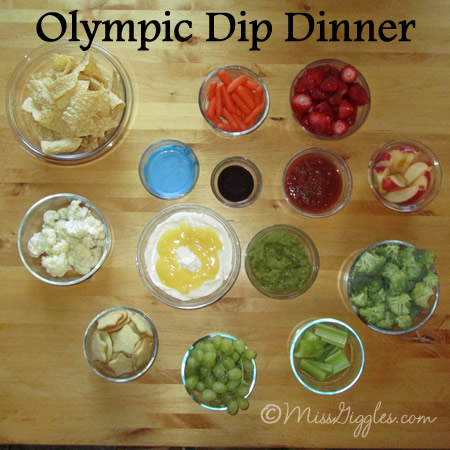 Random Giggles | Olympic Rings Dips Dinner