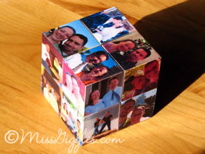 MissGiggles.com: Four year photos and a magic cube - closed cube