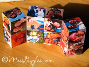MissGiggles.com: Four year photos and a magic cube - open cube
