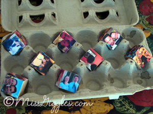 MissGiggles.com: Four year photos and a magic cube - making the parts