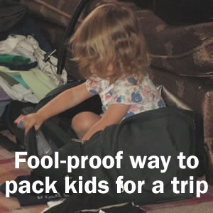 Random Giggles: How to Pack Kids for a Trip