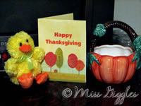 November 18, 2007 – Thanksgiving card